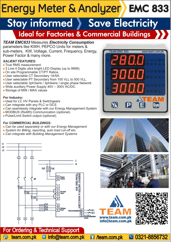 TEAM EMC833 (Energy Meter & Analyzer)