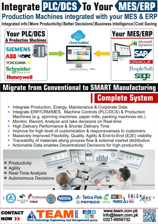 integrate PLC ERP
